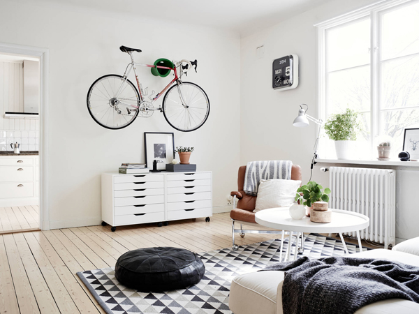 De fiets als sieraad in de woonkamer? Zeven goede ideeën | Fietsen123