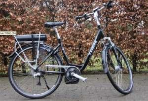 oranje electrische fiets